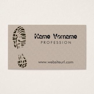 shoes business card