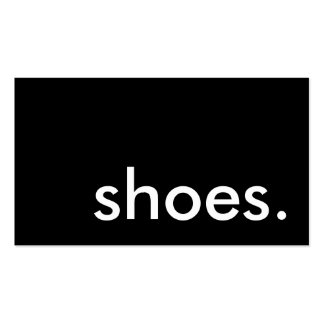 shoes. business cards