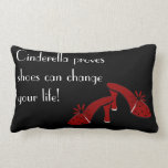 Shoes can change your life throw pillows