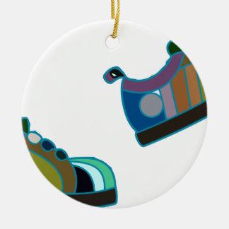 shoes ceramic ornament