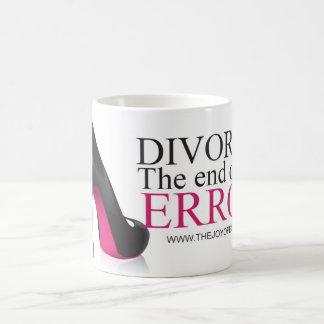 "Shoes ""Divorce. The end of an error."" Mug"
