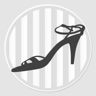 Shoes Envelope Seal Classic Round Sticker