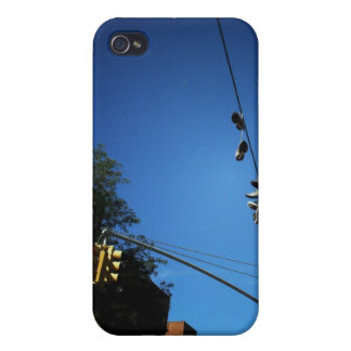 Shoes Hanging from a Power Line in Alphabet City iPhone 4 Cover