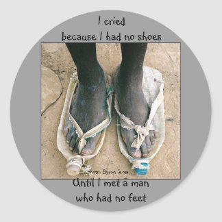 Shoes in Africa Stickers