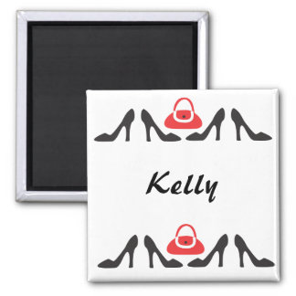 Shoes Line Up 2 Inch Square Magnet