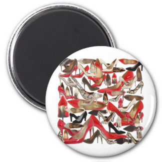 shoes 2 inch round magnet