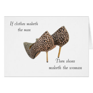 Shoes maketh the woman cards