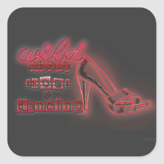 shoes n dancing square sticker