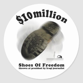 SHOES OF FREEDOM Sticker