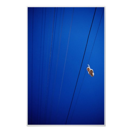 Shoes on a wire posters