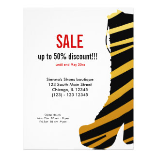 "Shoes on Sale 8.5"" X 11"" Flyer"