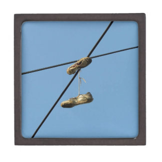 Shoes On Telephone Wire - Shoe Tossing Premium Trinket Boxes