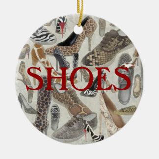 Shoes Ornament, Copyright Karen J Williams Ceramic Ornament