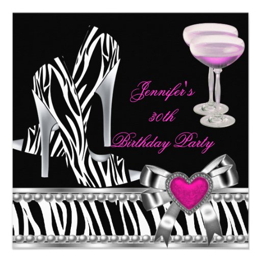 Personalized Shoes high heel birthday party Invitations