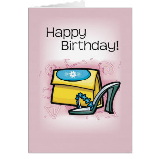 Shoes, Purse, Pink Birthday Card