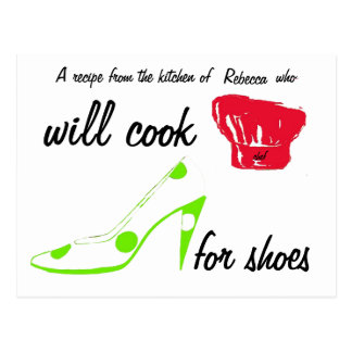 Shoes Recipe Card Postcard