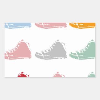 shoes rectangular sticker