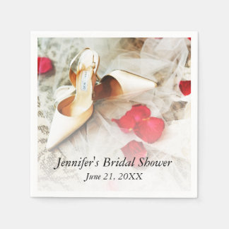Shoes & Roses Paper Napkin