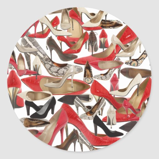 shoes round stickers