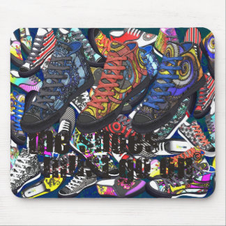 Shoes Shoes Shoes + Text: The Shoes Must Go On Mouse Pad