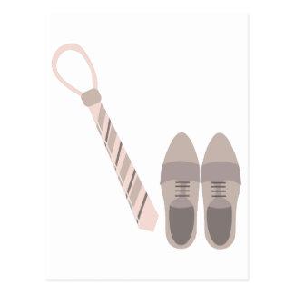 Shoes & Tie Postcard