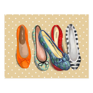 Shoes - tiny slippers post card