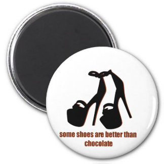 Shoes vs Chocolate Funny graphics Magnet