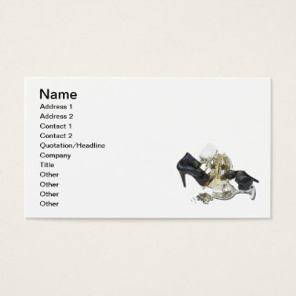 Shoes Wine Glasses Cascading Stars Business Card