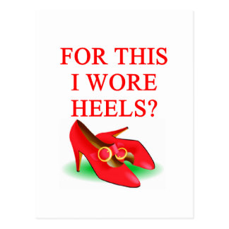 shoes with high heels postcard