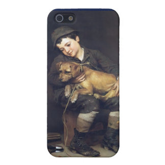 Shoeshine Boy and Dog Case For iPhone SE/5/5s