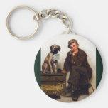 Shoeshine Boy & Dog w/Sign ~ John George Brown Keychain