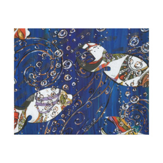 Shoesy Fish Stretched Canvas Print