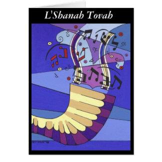 Shofar Rosh Hashana L Shanah Tovah Card