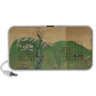 Shogún que viaja en la primavera, período de Edo iPod Altavoz