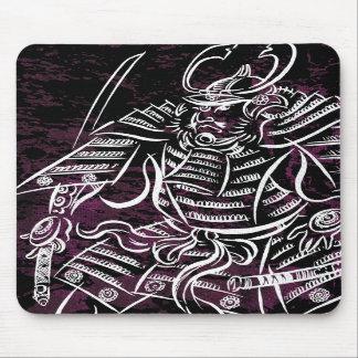 Shogun Samurai - White Calligraphy Line Mousepad