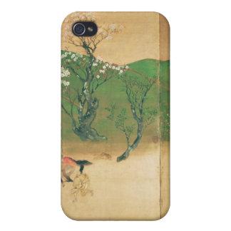 Shogun touring in spring, Edo Period Case For iPhone 4