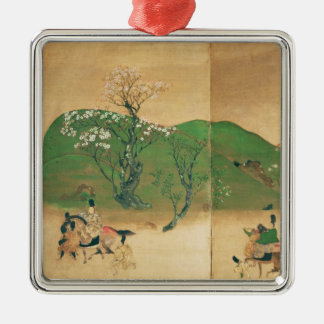 Shogun touring in spring, Edo Period Metal Ornament
