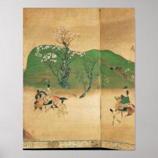 Shogun touring in spring, Edo Period Poster