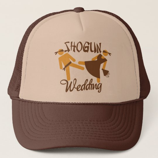 shogun wedding trucker hat
