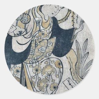 Shohei by Torii Kiyomasu d Ukiyoe Round Sticker