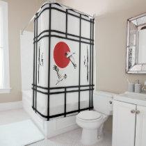 Shoji - Bamboo and Crane Shower Curtain