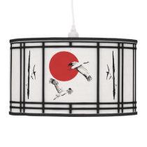 Shoji - Bamboo & Crane Ceiling Lamp