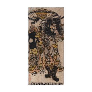 Shoki japonés fino del arte, cortesana, paraguas impresiones en lona