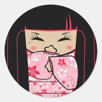 """""""Shokio"""" Mayumi Giggles Round Sticker"""