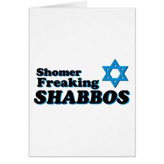 Shomer Freaking Shabbos Tarjetón