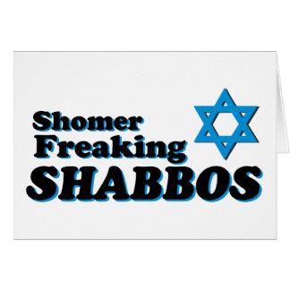 Shomer Freaking Shabbos Tarjeta
