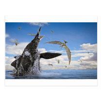 Shonisaurus Dinosaur Surprise Attack Postcard
