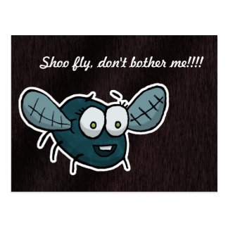 Shoo fly, don't bother me postcard