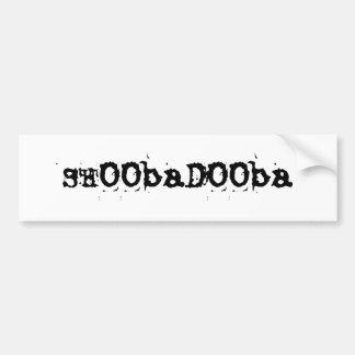 SHOObaDOOba Car Bumper Sticker