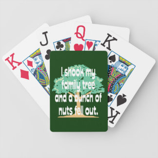 Shook my Family Tree Genealogy Bicycle Playing Cards